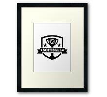 Softball champion Framed Print