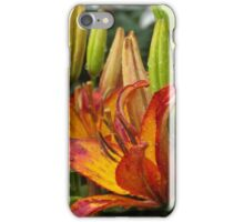 Lilies After Heavy Rain iPhone Case/Skin