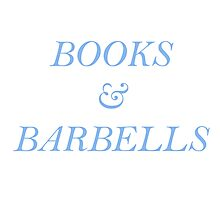 Books and Barbells - Blue Photographic Print