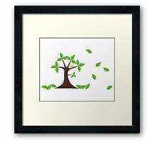 Naive tree large Framed Print