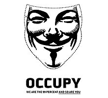 Guy Fawkes - Occupy Photographic Print