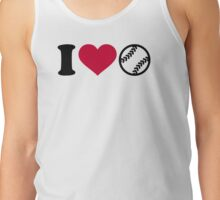 I love Softball Tank Top