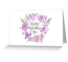 Floral Valentine's Day Card Greeting Card