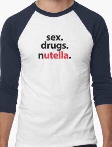 Sex. Drugs. Nutella Men's Baseball ¾ T-Shirt