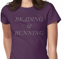 Reading and Running - Gray Womens Fitted T-Shirt