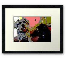 Cool Dogs Framed Print