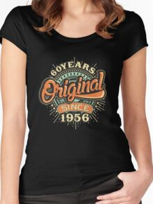60 Years Original since 1956 - Birthday gift 60th for shirt cups and many more. Choose from more designs made by rahmenlos - from munich germany.  Women's Fitted Scoop T-Shirt