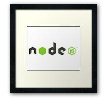 node js Framed Print