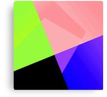 Trendy Bright Chic Color Blocks Pattern Canvas Print