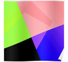 Trendy Bright Chic Color Blocks Pattern Poster