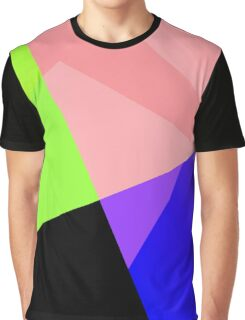 Trendy Bright Chic Color Blocks Pattern Graphic T-Shirt
