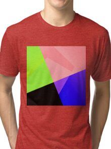 Trendy Bright Chic Color Blocks Pattern Tri-blend T-Shirt