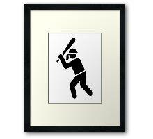 Softball player Framed Print