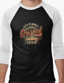 Used Look 60 Years Original since 1956 - Birthday gift 60th for shirt cups and many more. Choose from more designs made by rahmenlos - from munich germany.  Men's Baseball ¾ T-Shirt