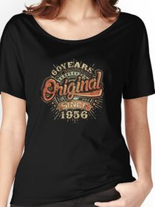 Used Look 60 Years Original since 1956 - Birthday gift 60th for shirt cups and many more. Choose from more designs made by rahmenlos - from munich germany.  Women's Relaxed Fit T-Shirt