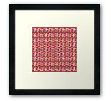 Geometric colorful pattern Framed Print