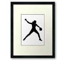 Softball pitcher Framed Print