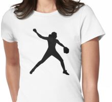 Softball pitcher Womens Fitted T-Shirt
