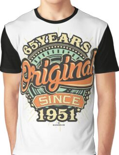 65 Years Original since 1951- Birthday gift 65th for shirt cups and many more. Choose from more designs made by rahmenlos - from munich germany.  Graphic T-Shirt