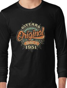 65 Years Original since 1951- Birthday gift 65th for shirt cups and many more. Choose from more designs made by rahmenlos - from munich germany.  Long Sleeve T-Shirt