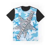 #PoveraTroia (Camo-Cyan) Graphic T-Shirt