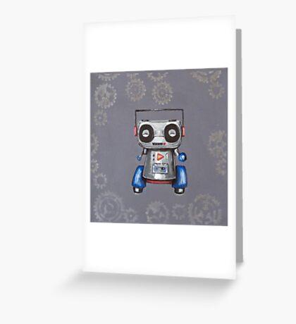 Robot Boomer Greeting Card