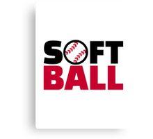 Softball Canvas Print