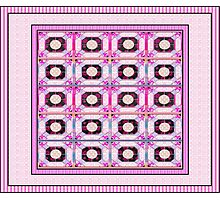 Beautiful cool design square pink  Photographic Print