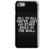 lego wall iPhone Case/Skin