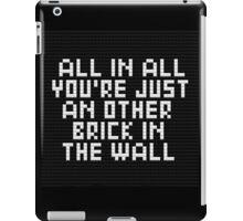 lego wall iPad Case/Skin