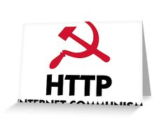 HTTP Internet Communism Greeting Card