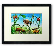 Steampunk - Bugs - Evolution take time Framed Print