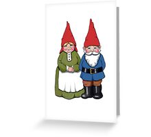 Gnome Couple, Man and Wife, Hand Drawn Gnomes Greeting Card