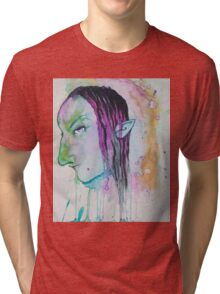 Dark Elf Watercolor Tri-blend T-Shirt