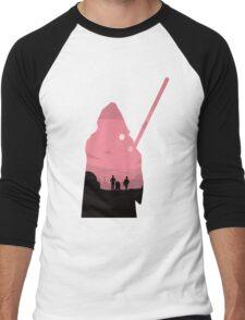 Ben Kenobi Silhouette Men's Baseball ¾ T-Shirt