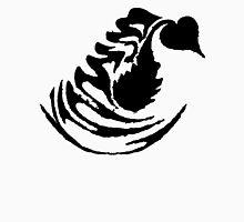 Latte Art: Swan Black Unisex T-Shirt