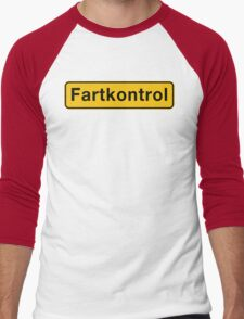 Fartkontrol (Speed Control), Road Sign, Denmark Men's Baseball ¾ T-Shirt