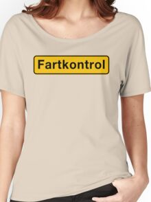 Fartkontrol (Speed Control), Road Sign, Denmark Women's Relaxed Fit T-Shirt