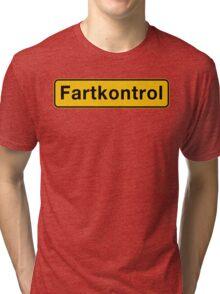 Fartkontrol (Speed Control), Road Sign, Denmark Tri-blend T-Shirt