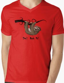 SLOTH:  Don't rush me! Mens V-Neck T-Shirt