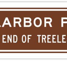 Nullarbor Plain, Road Sign, Australia Sticker