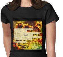 samurai champloo sunflower samurai  Womens Fitted T-Shirt