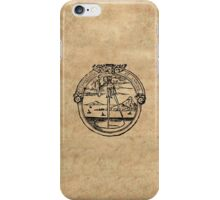 Constantia et Labore -  House of Plantin Printer's Mark iPhone Case/Skin