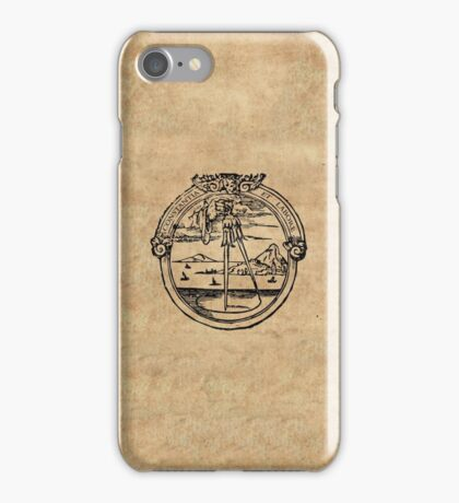 Constantia et Labore -  House of Plantin Printer's Mark iPhone Case/Skin