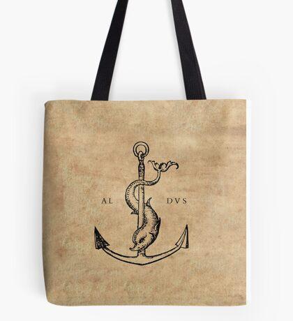 Festina Lente - Aldus Manutius Printer's Mark Tote Bag
