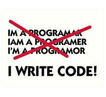I write code! Art Print