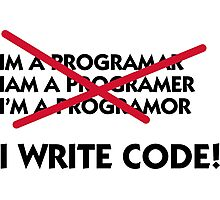 I write code! Photographic Print