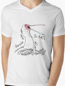 African spoonbill, Lepelaar Mens V-Neck T-Shirt