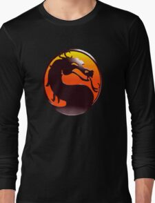 MORTAL KOMBAT PIXEL LOGO Long Sleeve T-Shirt