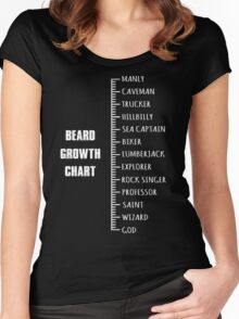 Measure Your Beard. Women's Fitted Scoop T-Shirt
